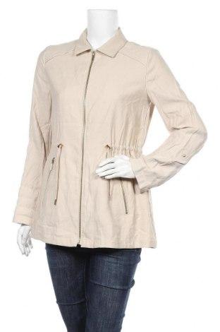 Дамско яке Zara, Размер S, Цвят Бежов, 94% вискоза, 6% полиестер, Цена 18,27лв.