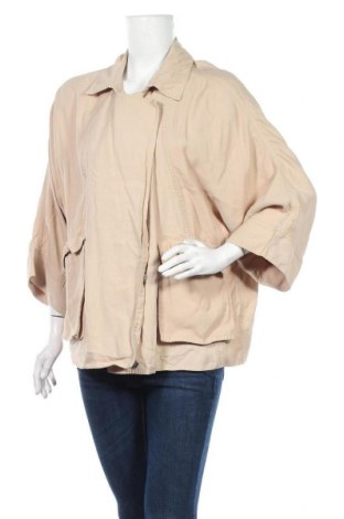 Дамско яке Zara, Размер M, Цвят Бежов, 94% вискоза, 6% полиестер, Цена 12,29лв.
