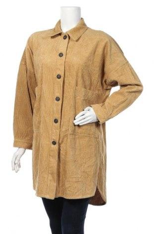 Дамско яке Zara Trafaluc, Размер S, Цвят Кафяв, Памук, Цена 20,79лв.