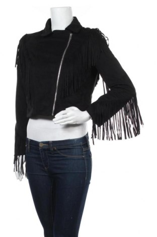 Дамско яке Zara Trafaluc, Размер M, Цвят Черен, Полиестер, Цена 45,57лв.