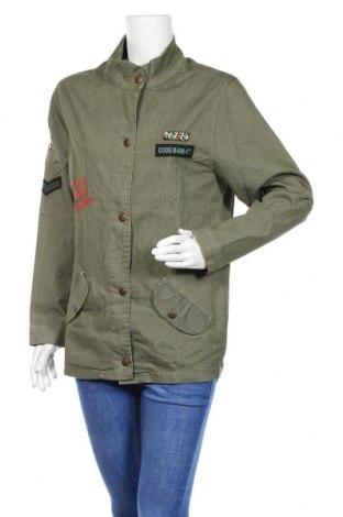 Дамско яке Zibi London, Размер L, Цвят Зелен, 100% памук, Цена 26,55лв.