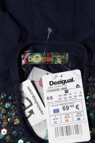 Παιδική μπλούζα Desigual, Μέγεθος 4-5y/ 110-116 εκ., Χρώμα Μπλέ, 53% πολυεστέρας, 27% βισκόζη, 19% βαμβάκι, 1% ελαστάνη, Τιμή 10,09€