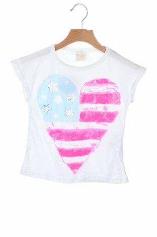 Παιδική μπλούζα Zara, Μέγεθος 4-5y/ 110-116 εκ., Χρώμα Λευκό, 50% βαμβάκι, 50% πολυεστέρας, Τιμή 6,53€