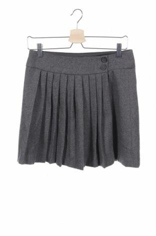 Детска пола Zara Kids, Размер 13-14y/ 164-168 см, Цвят Сив, 70% вълна, 30% полиестер, Цена 7,88лв.