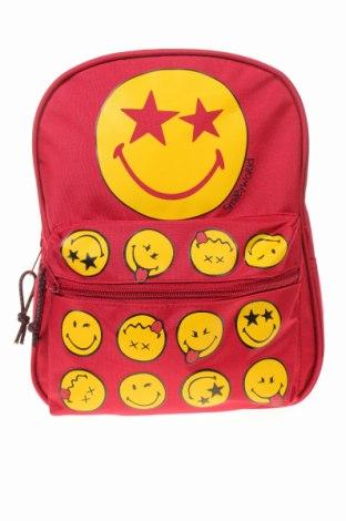 Детска раница Smiley World, Цвят Червен, Текстил, Цена 28,42лв.