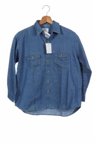 Παιδικό πουκάμισο, Μέγεθος 12-13y/ 158-164 εκ., Χρώμα Μπλέ, Βαμβάκι, Τιμή 5,91€