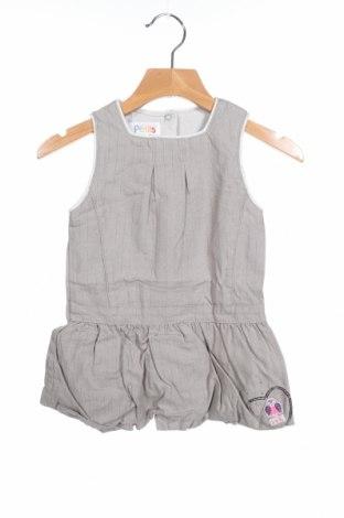 Παιδικό φόρεμα La Compagnie des Petits, Μέγεθος 12-18m/ 80-86 εκ., Χρώμα Γκρί, 99% βαμβάκι, 1% μεταλλικά νήματα, Τιμή 6,19€