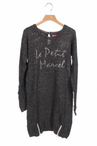 Παιδικό φόρεμα Little Marcel, Μέγεθος 11-12y/ 152-158 εκ., Χρώμα Γκρί, 90%ακρυλικό, 10% πολυεστέρας, Τιμή 7,50€