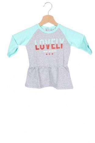 Παιδικό φόρεμα Mini Marcel, Μέγεθος 9-12m/ 74-80 εκ., Χρώμα Γκρί, Βαμβάκι, Τιμή 4,54€