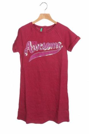 Παιδικό φόρεμα United Colors Of Benetton, Μέγεθος 12-13y/ 158-164 εκ., Χρώμα Κόκκινο, Βαμβάκι, Τιμή 16,12€