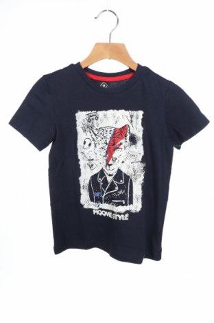 Детска тениска Grain De Ble, Размер 3-4y/ 104-110 см, Цвят Син, Памук, Цена 18,70лв.