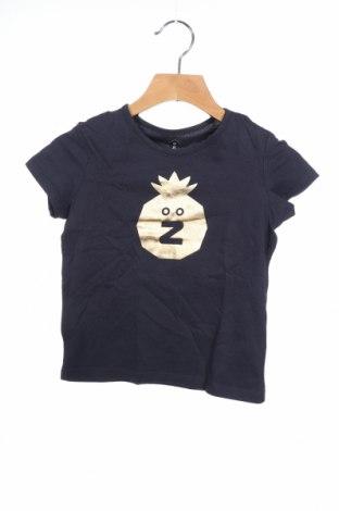 Детска тениска Grain De Ble, Размер 3-4y/ 104-110 см, Цвят Син, Памук, Цена 15,40лв.