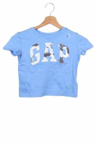 Детска тениска Gap Kids, Размер 4-5y/ 110-116 см, Цвят Син, Памук, Цена 14,00лв.