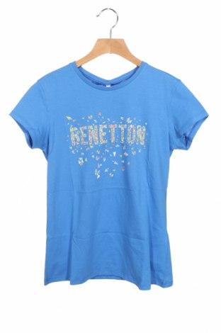 Παιδικό μπλουζάκι United Colors Of Benetton, Μέγεθος 14-15y/ 168-170 εκ., Χρώμα Μπλέ, Βαμβάκι, Τιμή 9,80€