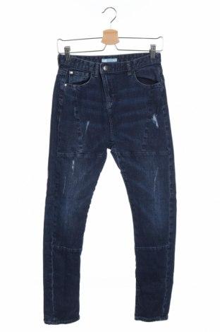 Детски дънки Guess, Размер 12-13y/ 158-164 см, Цвят Син, 99% памук, 1% еластан, Цена 20,79лв.