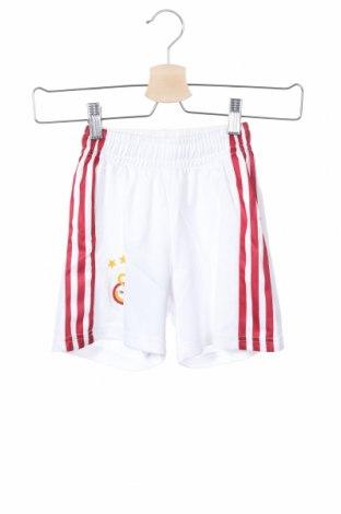 Παιδικό κοντό παντελόνι Adidas, Μέγεθος 5-6y/ 116-122 εκ., Χρώμα Λευκό, Πολυεστέρας, Τιμή 10,86€