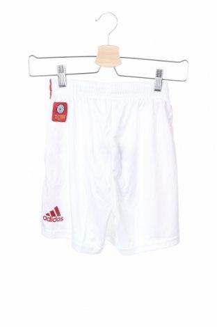 Παιδικό κοντό παντελόνι Adidas, Μέγεθος 11-12y/ 152-158 εκ., Χρώμα Λευκό, Πολυεστέρας, Τιμή 8,34€