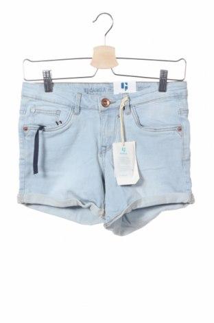 Παιδικό κοντό παντελόνι Garcia Jeans, Μέγεθος 15-18y/ 170-176 εκ., Χρώμα Μπλέ, 92% βαμβάκι, 6% πολυεστέρας, 2% ελαστάνη, Τιμή 8,06€