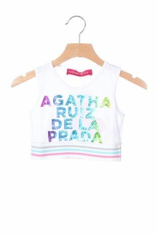 Μπλουζάκι αμάνικο παιδικό Agatha Ruiz De La Prada, Μέγεθος 2-3y/ 98-104 εκ., Χρώμα Λευκό, Βαμβάκι, Τιμή 10,82€