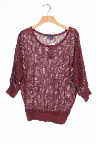 Детски пуловер Buffalo, Размер 9-10y/ 140-146 см, Цвят Червен, 50% памук, 50% акрил, Цена 3,00лв.