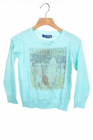 Παιδικό πουλόβερ Le Petit Marcel, Μέγεθος 6-7y/ 122-128 εκ., Χρώμα Μπλέ, Βαμβάκι, Τιμή 18,95€
