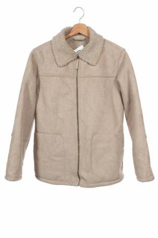 Детско палто, Размер 12-13y/ 158-164 см, Цвят Бежов, Полиестер, Цена 19,32лв.