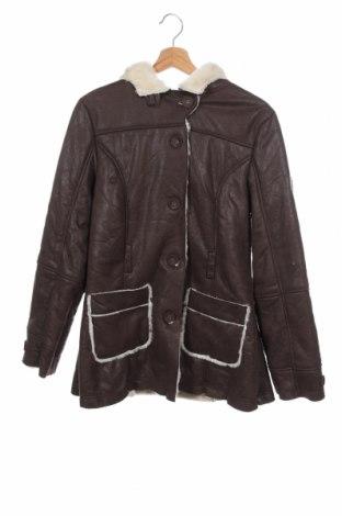 Παιδικό παλτό Here+There, Μέγεθος 15-18y/ 170-176 εκ., Χρώμα Καφέ, 52%ακρυλικό, 48% πολυεστέρας, Τιμή 10,23€