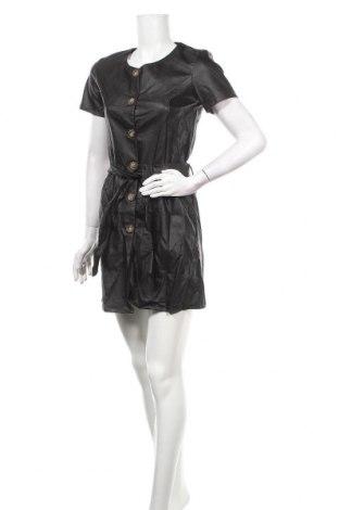 Кожена рокля Une Saison a Paris, Размер M, Цвят Черен, Еко кожа, Цена 17,25лв.