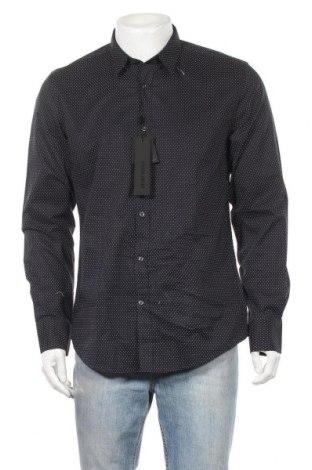 Мъжка риза Antony Morato, Размер L, Цвят Син, Памук, Цена 31,15лв.