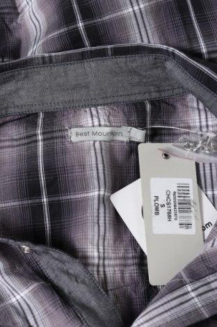 Мъжка риза Best Mountain, Размер S, Цвят Сив, Памук, Цена 39,00лв.