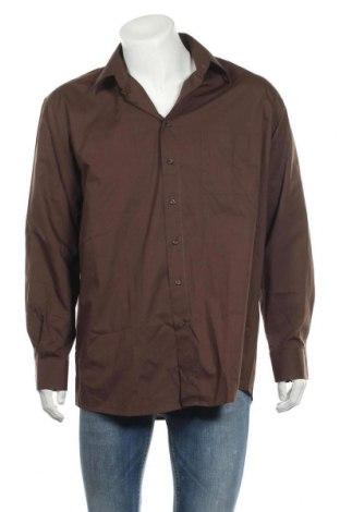 Ανδρικό πουκάμισο Club D'amingo, Μέγεθος XL, Χρώμα Καφέ, 60% βαμβάκι, 40% πολυεστέρας, Τιμή 6,79€