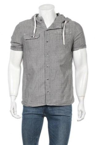 Ανδρικό πουκάμισο Converse, Μέγεθος L, Χρώμα Γκρί, Τιμή 14,03€