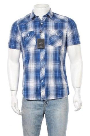 Мъжка риза John Devin, Размер S, Цвят Син, Памук, Цена 33,00лв.