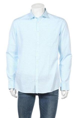 Ανδρικό πουκάμισο Rodier, Μέγεθος XL, Χρώμα Μπλέ, Βαμβάκι, Τιμή 19,02€