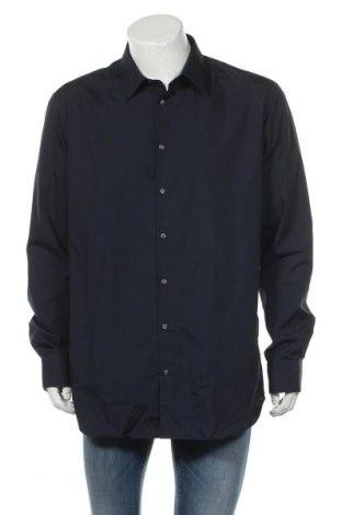 Ανδρικό πουκάμισο Rodier, Μέγεθος XXL, Χρώμα Μπλέ, 65% πολυεστέρας, 35% βαμβάκι, Τιμή 21,86€