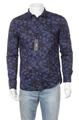 Мъжка риза Sisley, Размер L, Цвят Многоцветен, Памук, Цена 20,70лв.