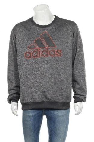 Ανδρική αθλητική μπλούζα Adidas, Μέγεθος XL, Χρώμα Γκρί, Πολυεστέρας, Τιμή 21,82€