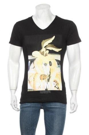 Мъжка тениска Eleven Paris, Размер S, Цвят Черен, 50% памук, 50% модал, Цена 25,37лв.