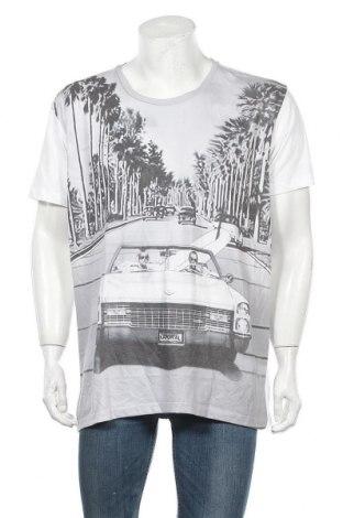 Ανδρικό t-shirt Kaporal, Μέγεθος XXL, Χρώμα Λευκό, 68% πολυεστέρας, 32% βαμβάκι, Τιμή 15,40€