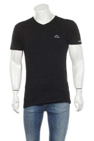 Ανδρικό t-shirt Kappa, Μέγεθος L, Χρώμα Μαύρο, 94% βαμβάκι, 6% ελαστάνη, Τιμή 17,97€