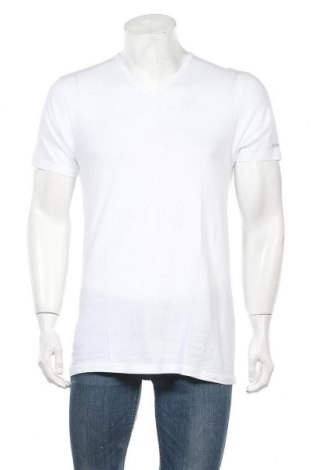 Ανδρικό t-shirt Kappa, Μέγεθος L, Χρώμα Λευκό, Βαμβάκι, Τιμή 13,67€