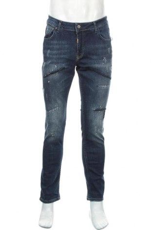 Мъжки дънки RNT23 Jeans, Размер M, Цвят Син, 98% памук, 2% еластан, Цена 31,80лв.