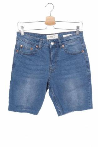 Мъжки къс панталон Pull&Bear, Размер S, Цвят Син, 99% памук, 1% еластан, Цена 21,96лв.