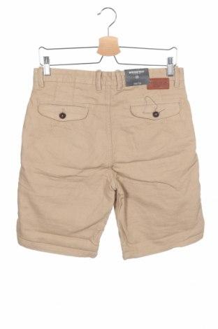 Мъжки къс панталон Springfield, Размер S, Цвят Бежов, Памук, Цена 34,50лв.