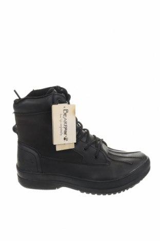 Ανδρικά παπούτσια Bearpaw, Μέγεθος 42, Χρώμα Μαύρο, Γνήσιο δέρμα, κλωστοϋφαντουργικά προϊόντα, Τιμή 36,60€