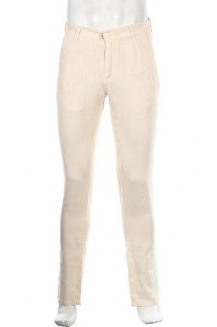 Мъжки панталон, Размер S, Цвят Бежов, Лен, Цена 20,24лв.