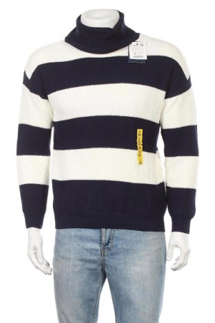 Pulover de bărbați Pull&Bear, Mărime S, Culoare Albastru, 60% bumbac, 40%acril, Preț 65,00 Lei