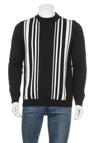 Мъжки пуловер Topman, Размер M, Цвят Черен, 51% памук, 49% акрил, Цена 17,28лв.
