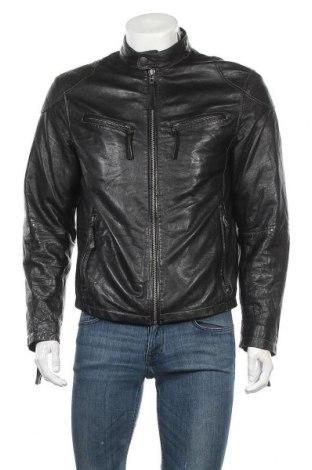 Ανδρικό δερμάτινο μπουφάν Gipsy, Μέγεθος L, Χρώμα Μαύρο, Γνήσιο δέρμα, Τιμή 79,59€