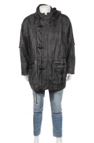 Мъжко кожено яке Maddox, Размер L, Цвят Черен, Естествена кожа, Цена 25,73лв.